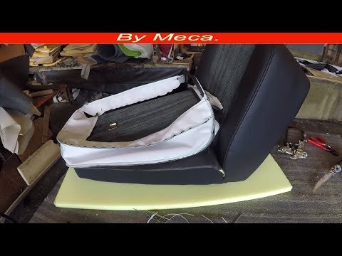 How to Upholster A Bucket Seat. part 4-4 | How to Install the  Seats covers. Auto Upholstery. DIY.