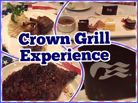Princess Cruises Specialty Dining: Crown Grill on the Crown Princess! Travel Vlog!