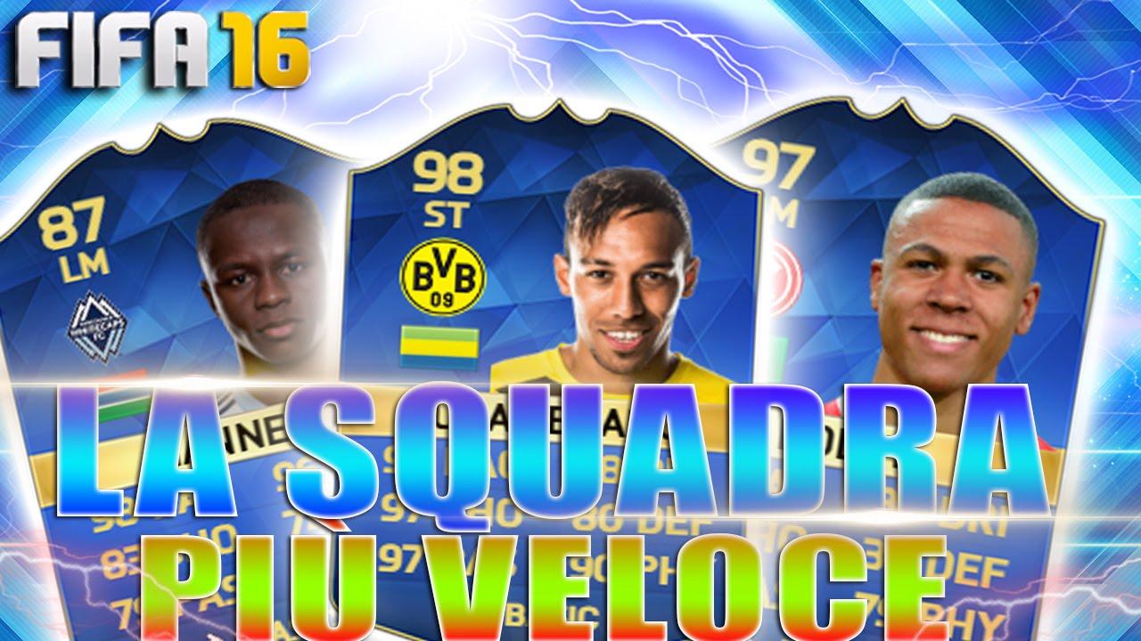 la squadra piu veloce di fifa 16 ultimate team squad builder ita best speed team flane youtube. Black Bedroom Furniture Sets. Home Design Ideas