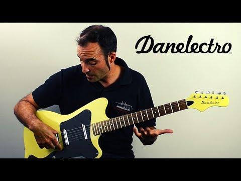 Guitarra Danelectro - 67 DANO Yellow Gloss DEMO REVIEW En Español