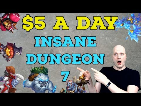 $5 A DAY. INSANE DUNGEON 7. CASTLE CLASH. SIGN IN DAILY