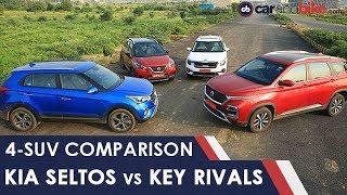 Kia Seltos vs Hyundai Creta, MG Hector, Nissan Kicks | NDTV carandbike