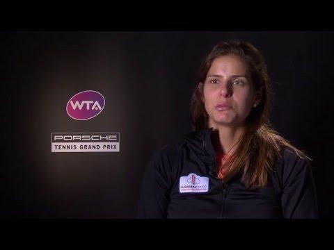 Interview Julia Goerges (GER) (in German) - Porsche Tennis Grand Prix 2016