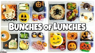 HALLOWEEN🎃 School LUNCH ideas for JK, 1st Grader, 3rd Grader 🍎 Bunches of Lunches