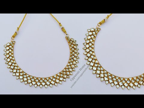 How To Make Beautiful Necklace At Home | DIY | Jewelry Making | Necklace Designs | uppunutihome