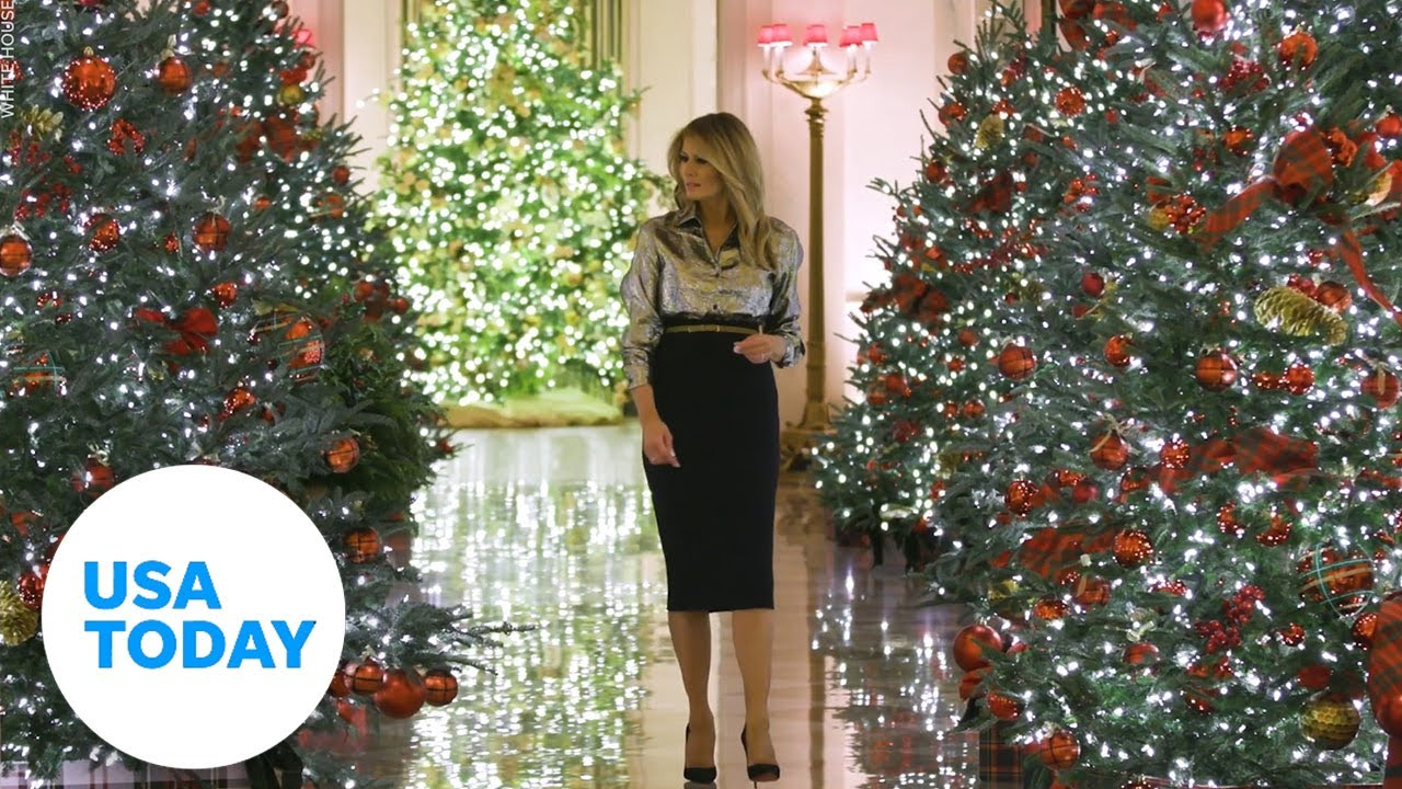 Youtube 2021 Merry Christmas By President Trump Melania Trump Unveils White House Christmas Decorations After Controversy Usa Today Youtube