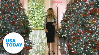Melania Trump unveils White House Christmas decorations after controversy | USA TODAY