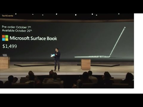 Microsoft Surface Book hands on demo at Windows 10 devices event