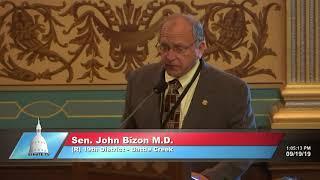 Sen. Bizon promotes Rail Safety Week in the Michigan Senate