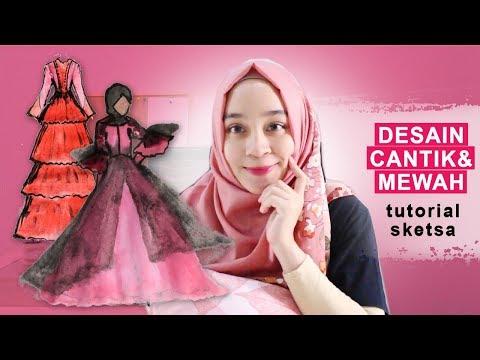 model-baju-muslim-cantik-dan-mewah-|-desainer-baju