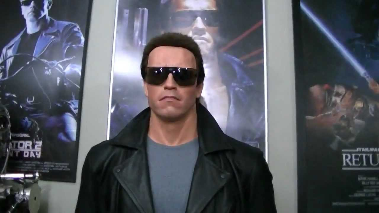 reputable site b78a0 af275 Lifesize 1 1 Arnold Schwarzenegger Terminator 1 Police Station Shootout  statue bust - YouTube