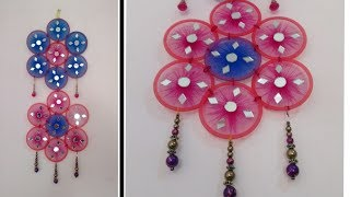 DIY Wall Craft Decoration // make wall hanging with bangles and net..