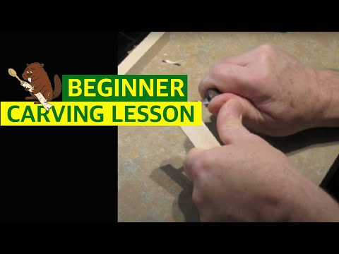 Beginner woodcarving basic cuts youtube