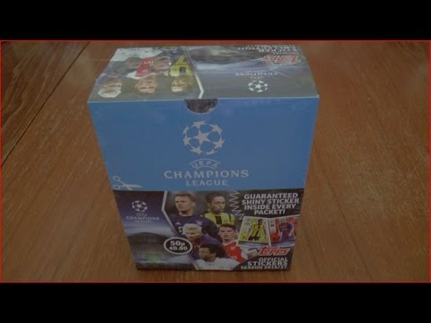 UEFA CHAMPIONS LEAGUE™ 2016-2017 Official Sticker Collection | FULL DISPLAY BOX | Topps UNBOXING