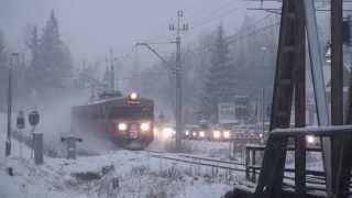 """EN57-1010 + IR 34170 """"GIEWONT"""" + RP1 - przejazd kolejowy w Poroninie na Zakopiance"""