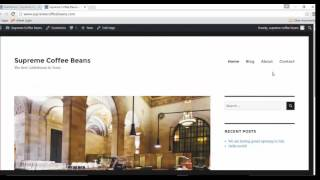 How to Create a Coffee Shop Website with WordPress and Blue Host  (Video 2)