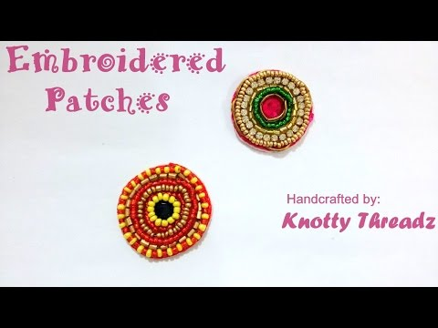 How to make Embroidered Patches for Blouses and Sarees at Home | Tutorial !!