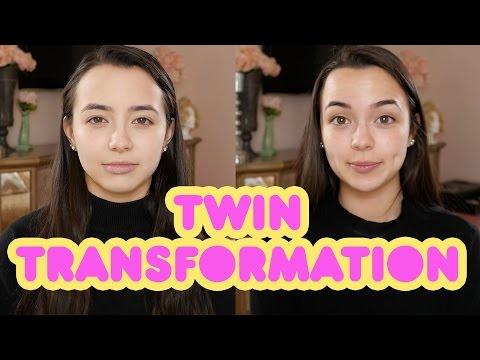 Twins Transformation into Marilyn Monroe & Audrey Hepburn