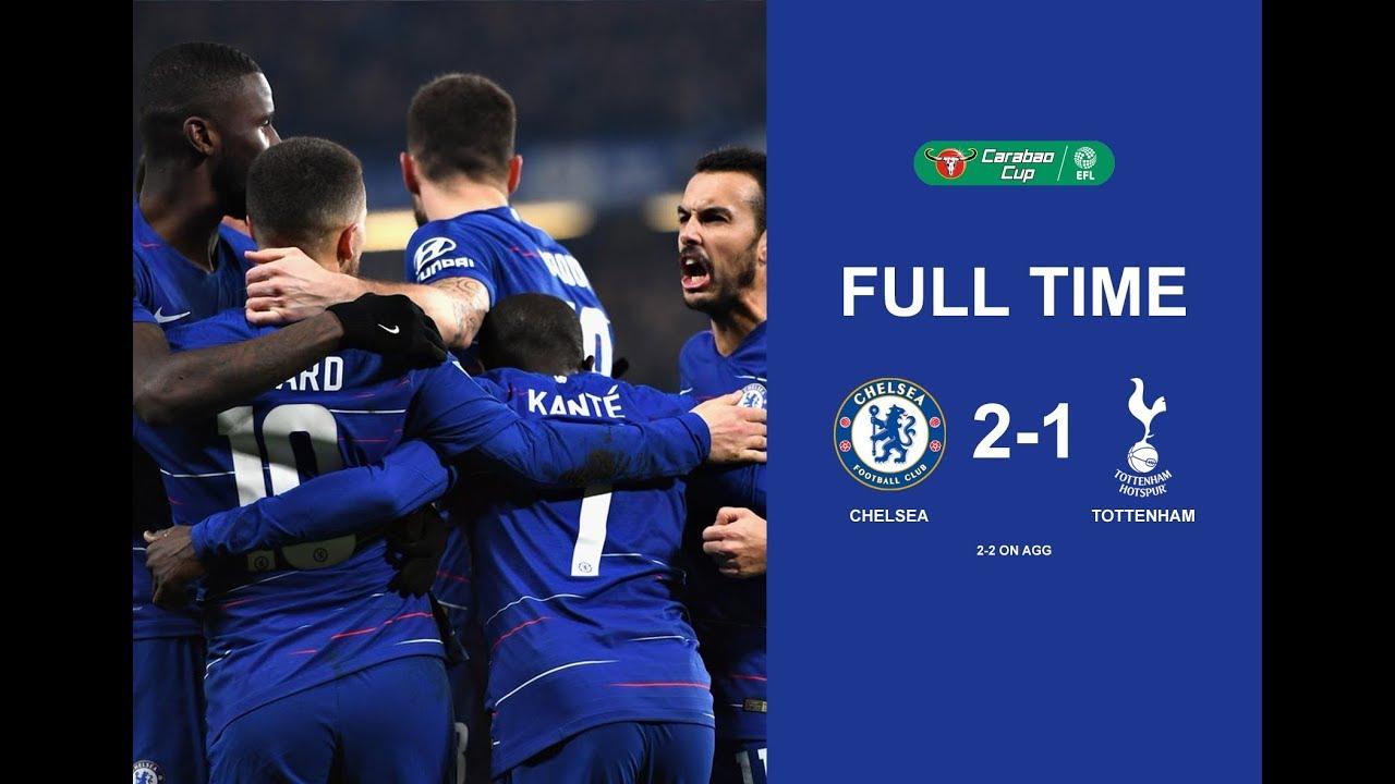 Chelsea Vs Tottenham 2 1 Full Time 2nd Full Match 25