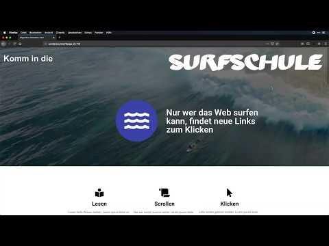 Die Surfschule mit Oxygen Page-Builder nachgebaut - WordPress-Page-Builder im Test
