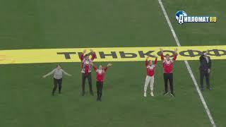 На Газпром Арене чествовали чемпионов мира по фигурному катанию