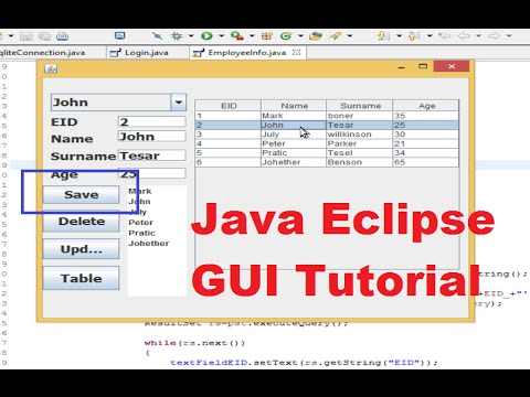 Java Eclipse GUI Tutorial 10 # How to Insert / Save Data from Java Into  Sqlite Database
