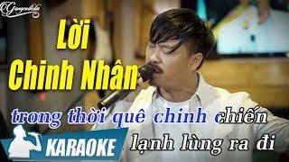 Lời Chinh Nhân Karaoke Quang Lập (Tone Nam) | Nhạc Vàng Bolero Karaoke