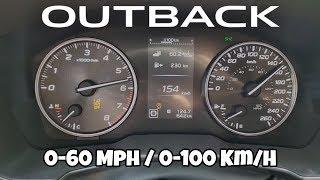 Subaru Outback Turbo Acceleration Test 0 60 Mph 0 100 Km H Youtube