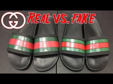 GUCCI SLIDES REAL VS. FAKE !!! DON'T GET SCAMMED !!!