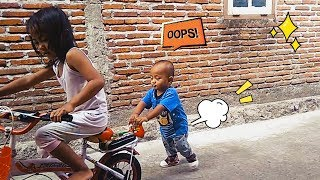 Bermain sepeda sepedaan l pagi hari yang ceria