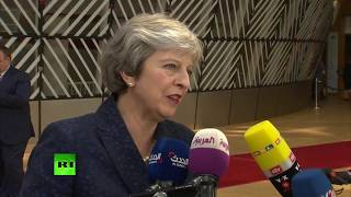 LIVE: Theresa May speaks as she arrives at EU Council summit in Brussels