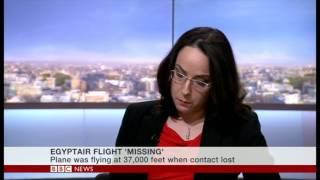 EgyptAir Missing Live on set - Breaking News - 0500 BBC World News TV