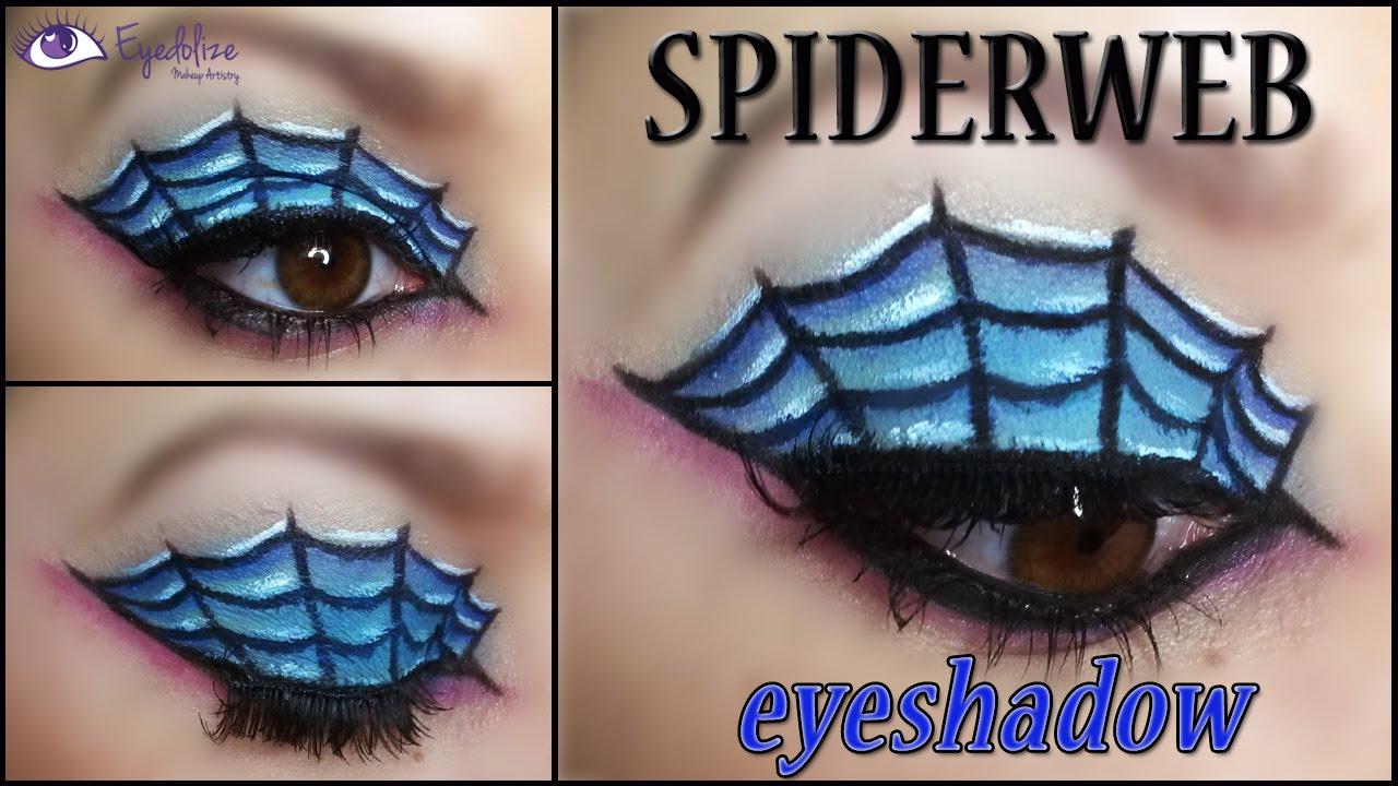 Spider Web Eyeshadow Halloween Makeup Tutorial by EyedolizeMakeup ...