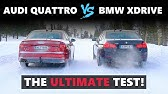Audi Quattro VS BMW XDrive VS Jaguar AWD - The Ultimate Test on Snow! ❄️