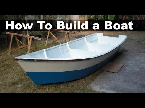 How to Build a Boat out of Plywood 15 ft 45 m Dinghy  YouTube