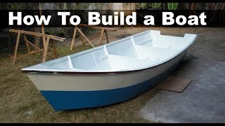 How to Build a Boat out of Plywood (15 ft, 4.5 m Dinghy)