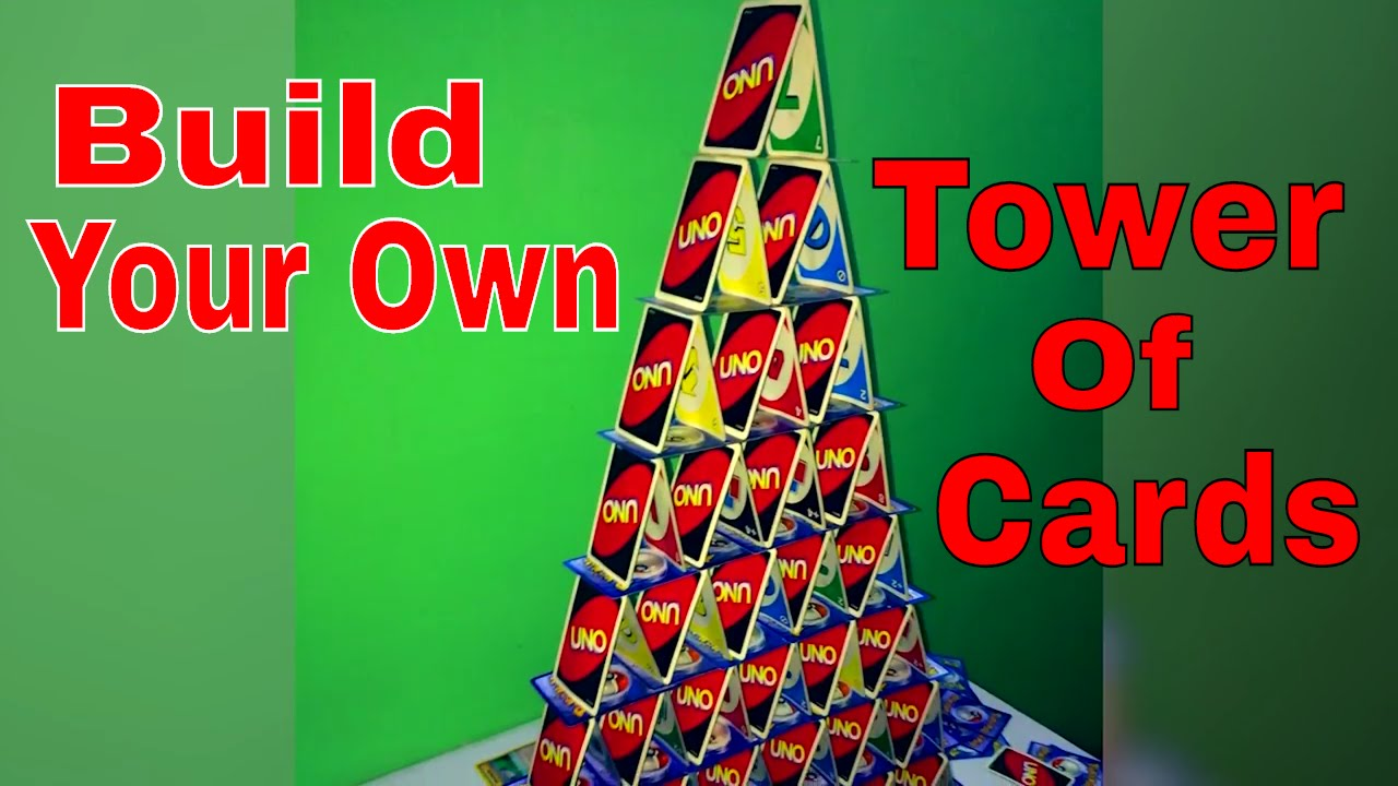 how to build a tower of cards youtube