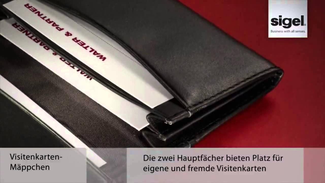 Sigel Vz200 Torino Visitenkartenetui Leder Für 30 Karten Nappaleder