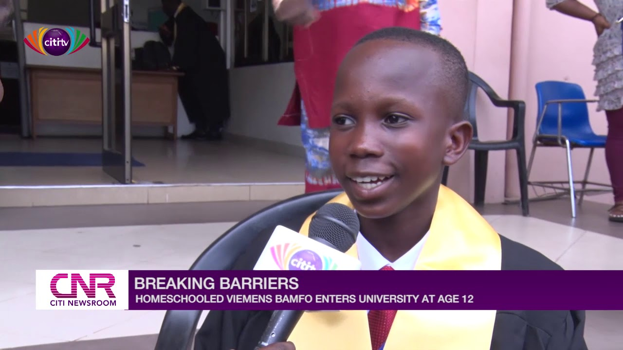 Download 12-year-old home-schooled boy gets admission to University of Ghana | Citi Newsroom
