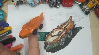 How To Draw Monster Vehicle Alligator From Hotvils. Speedpaint