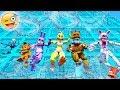 ANIMATRONICS SLIDE 99,999 FEET ON BIGGEST WATER SLIDE! (GTA 5 Mods For Kids FNAF RedHatter)