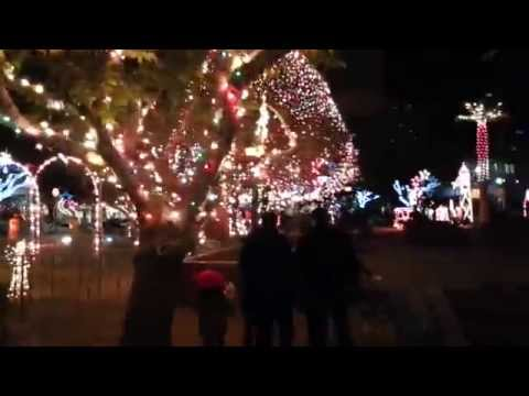 El Paso Downtown Christmas lights 12/11/12