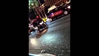 Biker breaks off mirror of douchebag on LVstrip