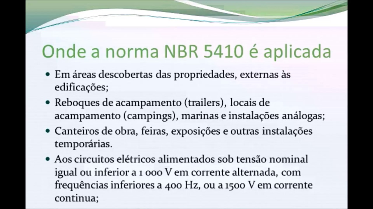 normas nbr 5410