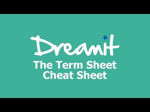 The Term Sheet Cheat Sheet