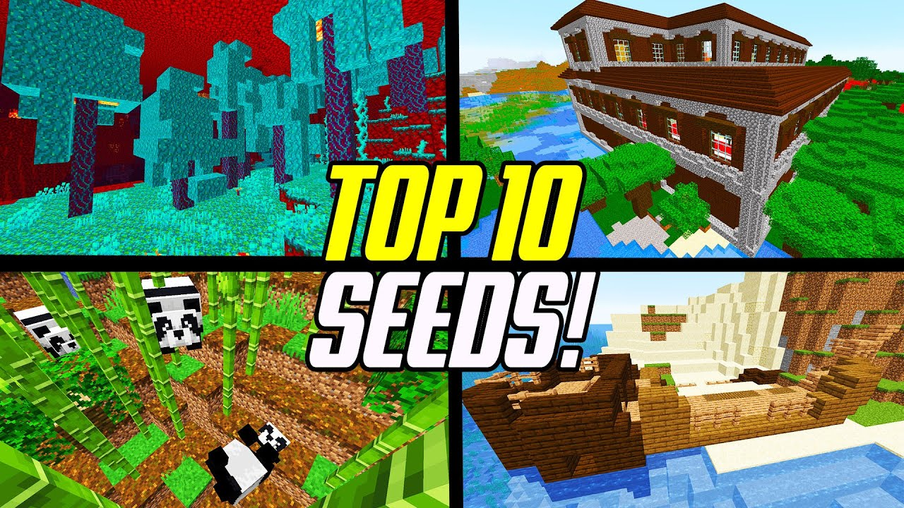 Top 1111 Minecraft 11.111 BEST Seeds (PC JAVA Edition)