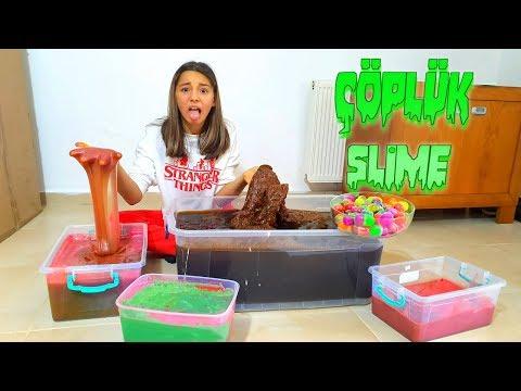 Çöplük Slime Topluyoruz Yeni Eve Gidecekmi? - Melike Elif
