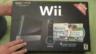 Nintendo Wii Unboxing (Black Edition)