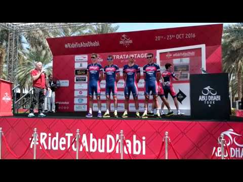 2016 Abu Dhabi tour -  Minsk Cycling Club at Stage 3 sign-in