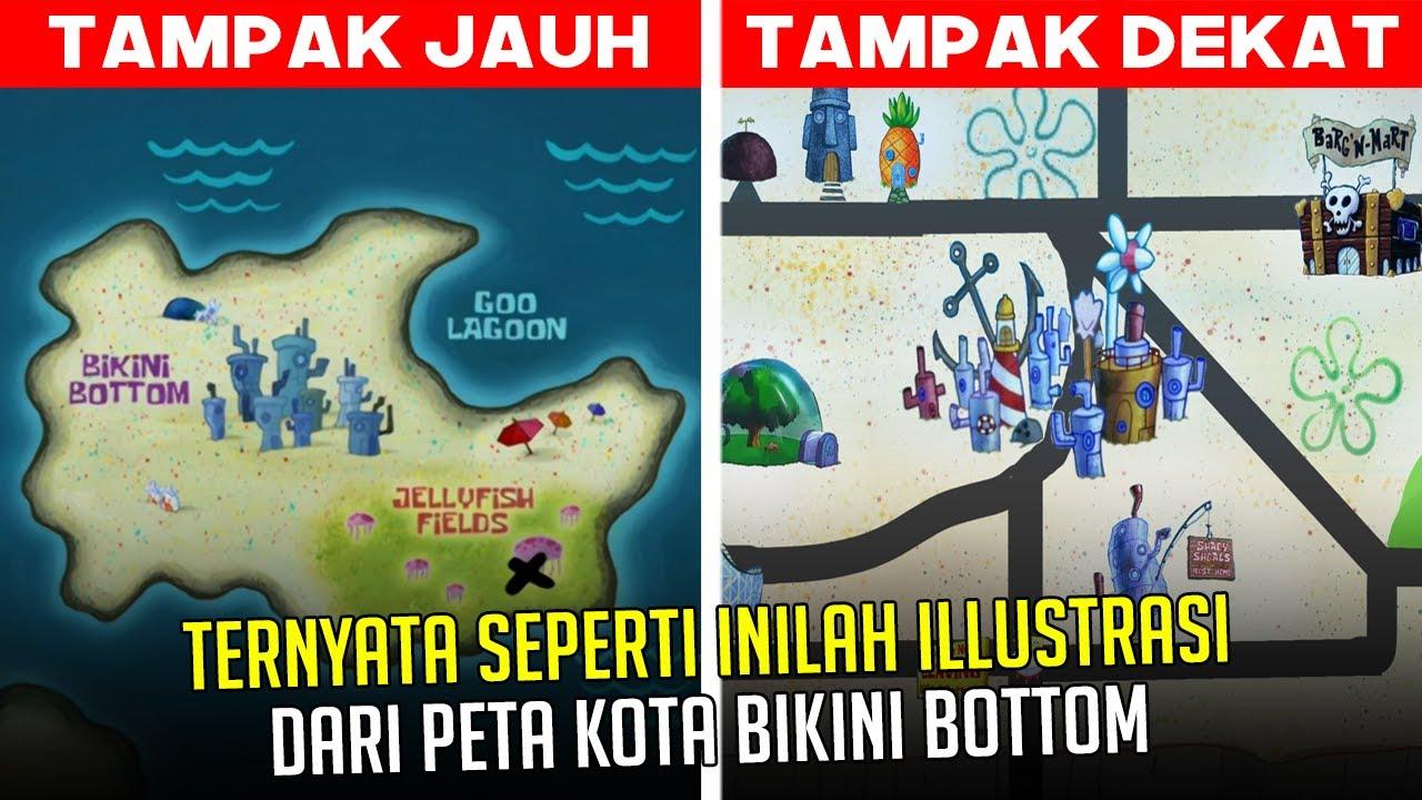 Ternyata seperti inilah ilustrasi dari Peta Kota Bikini Bottom | #spongebobpedia - 46